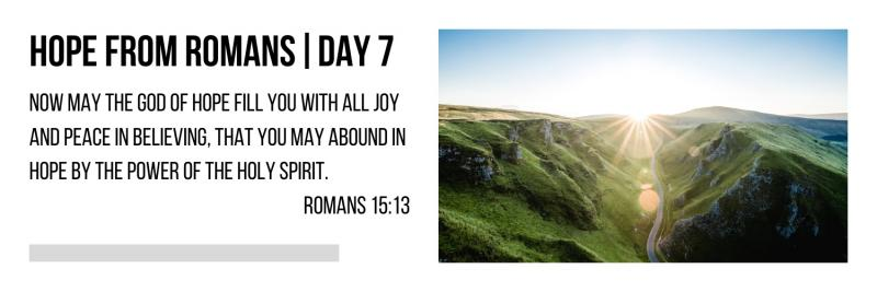 Hope From Romans | Day #7
