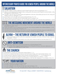 How to Pray for Israel: Prayer Guides from a Messianic World View